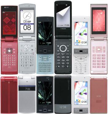 706i�A(左からP706iμ、P706ie、SH706i、SH706ie、SH706iw、SO706i).jpg